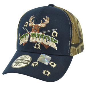 Big Buck Hunter Hunting Hunt Deer Outdoors Two Tone Camouflage Camo Hat Cap Camp