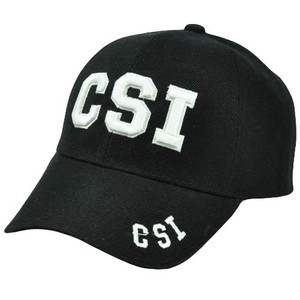 CSI Crime Scene Investigation Law Enforcement Department Black White Hat Cap