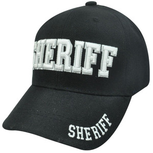 Sheriff County Deputy Police Law Enforcement Constructed Velcro Baseball Hat Cap