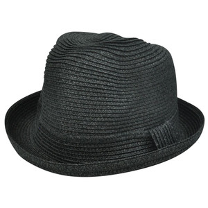 Black One Size Small Med Large Paper Fedora Stetson Homburg Bowler Flip Bowl Hat