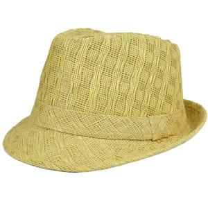 Woven Straw Adult Gangster Hat Small Medium FD-112 Stetson Khaki Fedora  Trilby 5a1c907eeb2f
