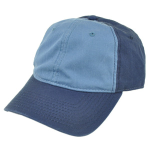 American Needle Blank Two Tone Blue Women Ladies Garment Wash Buckle Hat Cap