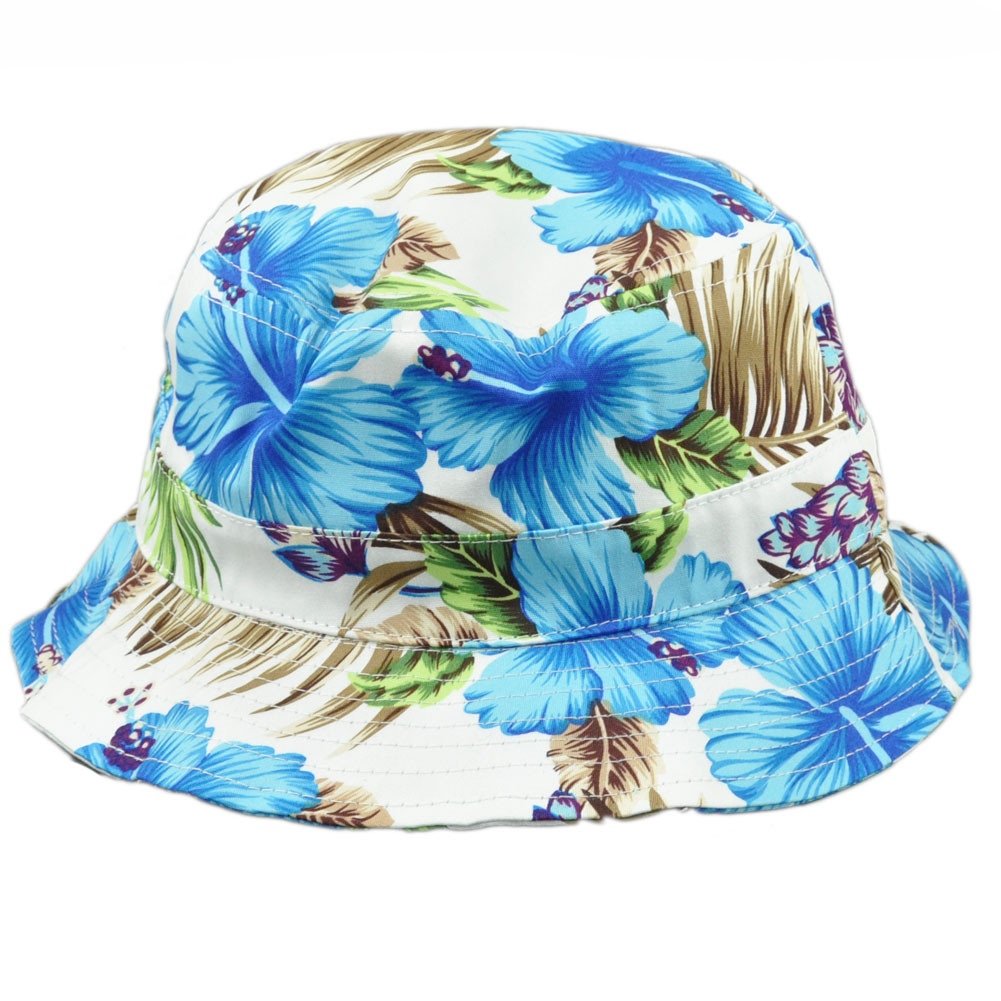 Tropical Hawaiian Flower Pattern Beach Fitted Small Medium Sun Bucket Hat  White. Your Price   14.95 (You save  5.00). Image 1 c5b6c101089d