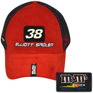 SADLER 38 RED BLUE PIT CAP HAT OFFICIAL NASCAR FLEX FIT