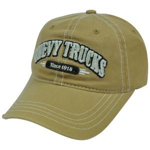 Chevy Chevrolet Trucks Car Velcro Garment Wash Relaxed Slouch Distress Hat Cap