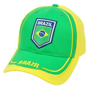Brasil Brazil Hat Cap Gorra Soccer Flag Futbol Football Rhinox CIS08 Adjustable