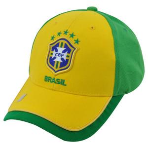 Brazil National World Cup Soccer Futbol Rhinox Group C1S10-L Sun Buckle Hat Cap
