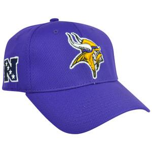 NFL Minnesota Vikings Fortinbras Stretch Flex Fit Mens Adult Hat Cap Purple S/M