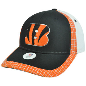 NFL Cincinnati Bengals Gridiron Adjustable Velcro Curved Bill Constructed Hat
