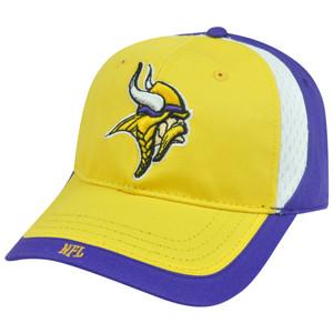 NFL Minnesota Vikings Masoli Adjustable Velcro Garment Wash Curved Bill Hat Cap