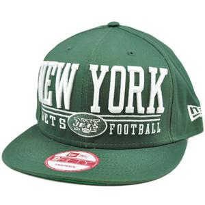 New Era 9Fifty 950 NFL Lateral Snapback Flat Bill Brim Cap Hat New York Jets