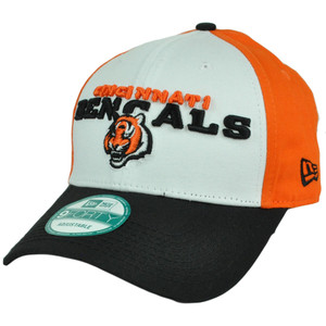New Era 940 9Forty NFL Cincinnati Bengals Tri Chroma Velcro Adjustable Hat Cap