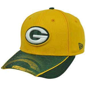 New Era 39Thirty NFL Green Bay Packers Hybrid Hex Stretch Hat Cap Flex Fit S/M