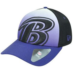 NFL New Era 39Thirty 3930 Gradation Baltimore Ravens Flex Fit S/M Hat Cap
