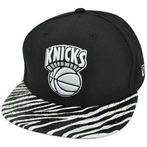 NBA New Era 9Fifty New York Knicks Ostrich Vize Zebra Strapback Brim M/L Hat Cap