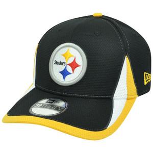 NFL New Era 3930 Pittsburgh Steelers Training Camp Flex Fit M/L Hat Cap Black