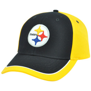 NFL Adjustable Velcro Curved Bill X2507 Constructed Pittsburgh Steelers Hat Cap