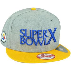 NFL New Era 9Fifty Pittsburgh Steelers Super Bowl Patch X Snapback Hat Cap M/L