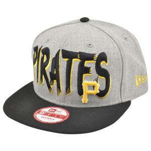 MLB New Era 9Fifty 950 Pittsburgh Pirates Team Custom Snapback Heather Hat Cap
