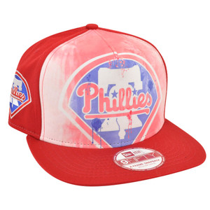 MLB New Era 9Fifty Frame Over Watercolor Philadelphia Phillies Snapback Hat Cap