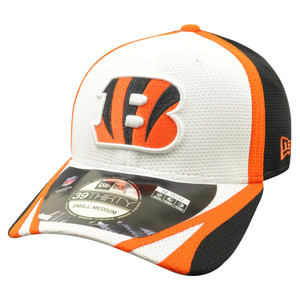NFL New Era 39Thirty 3930 Cincinnati Bengals 2014 Official Training Flex Fit S/M