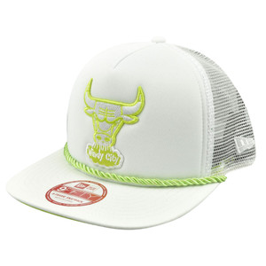 NBA New Era A Frame 9Fifty 950 Chicago Bulls Rope Front Trucker Snapback Hat Cap