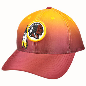 NFL Washington Redskins Multi Team Colors Red Yellow Team Apparel Hat Cap