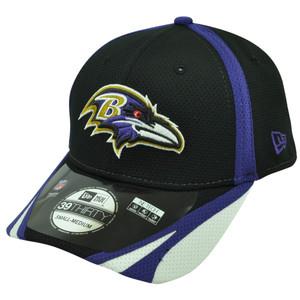 NFL New Era 39Thirty Baltimore Ravens 2014 Team Color Training Flex M/L Hat Cap
