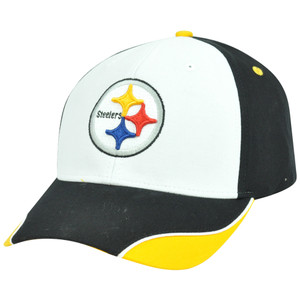NFL Pittsburgh Steelers Logo Adjustable Curved Velcro Constructed Hat Cap XZ508