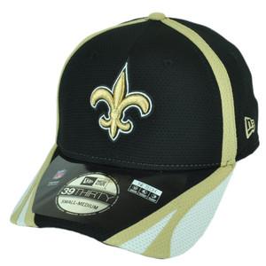 NFL New Era 39Thirty New Orleans Saints Team Color Training Flex Fit M/L Hat Cap