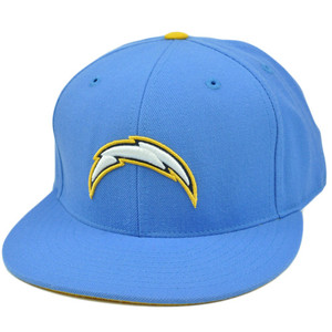 NFL Mitchell & Ness Throwback Logo Hat Cap Fitted San Diego Chargers TK42 Size 7
