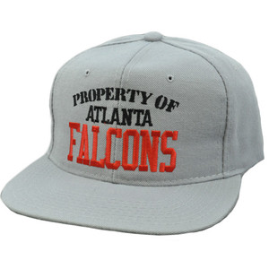 NFL Atlanta Falcons Vintage Retro Deadstock Snapback Gray New Era Pro Hat Cap