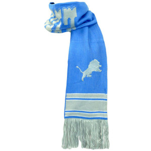 NFL Mitchell & Ness S108 Scarf Scarves Throwback Logo Vintage Detroit Lions