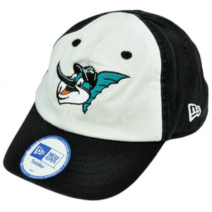 MLB Florida Marlins Youth Toddler Baby Boys Stretch Cotton White Black Hat Cap