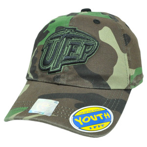 NCAA UTEP Texas El Paso Miners Camo Camouflage Flex Fit Kids Youth Hat Cap