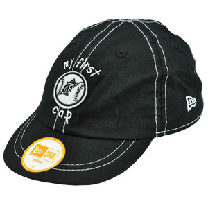 MLB Florida Marlins My First Cap Youth Infant Baby Boys Black Stretch Hat Cap