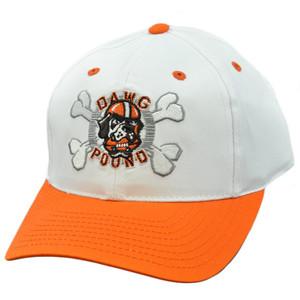 NFL Cleveland Browns Dawg Pound Vintage Deadstock Snapback White Orange Hat Cap