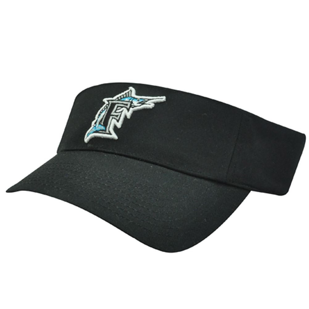MLB Florida Marlins Miami Baseball Logo Cotton Sun Tennis Visor ... 7531cbcbf