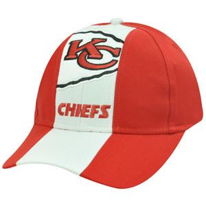 NFL KANSAS CITY CHIEFS COTTON VELCRO WHITE RED HAT CAP