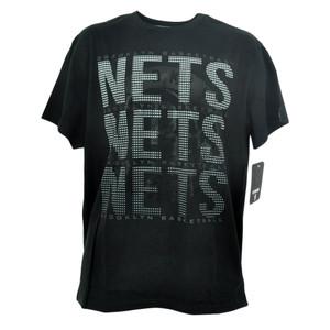 NBA Unk Brooklyn Nets Triple Marquee Dot Basketball Tshirt Mens Tee Black