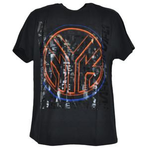NBA New York Knicks Shine Basketball Shirt Black Adult Authentic Tshirt Tee