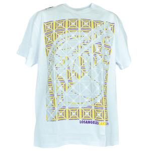 NBA Los Angeles Lakers Basketball Kaleidoscope White Tshirt Authentic Tee
