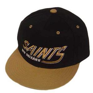 NFL NEW ORLEANS SAINTS FLAT OLD SCHOOL SNAPBACK CAP HAT