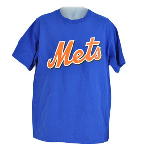 MLB Licensed New York Mets Johan Santana 57 Tshirt Tee Blue Orange Cotton Adult