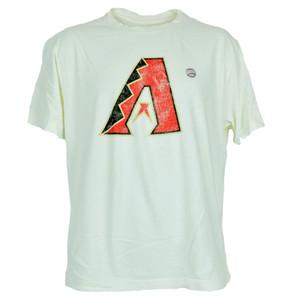 MLB Faded Distressed Arizona Diamondbacks Dbacks Beige Tee Authentic Tshirt
