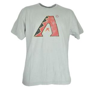 MLB Faded Distressed Arizona Diamondbacks Dbacks Gray Tee Authentic Tshirt