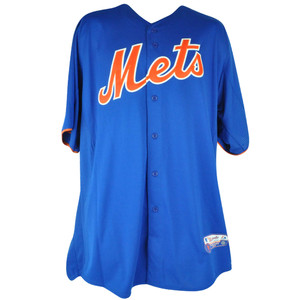 MLB Majestic NY New York Mets Cool Base Batting Practice Mens Baseball Jersey