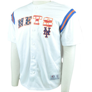 MLB True Fan American Flag New York Mets Authentic Jersey Licensed Baseball