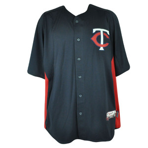 MLB Majestic Minnesota Twins Cool Base Batting Practice Mens Baseball Jersey