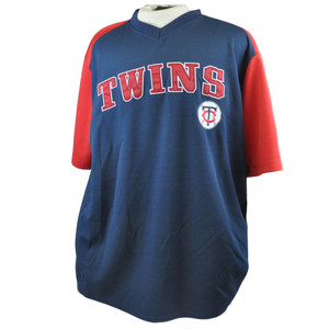 MLB Minnesota Twins License True Fan Baseball Lightweight Jersey